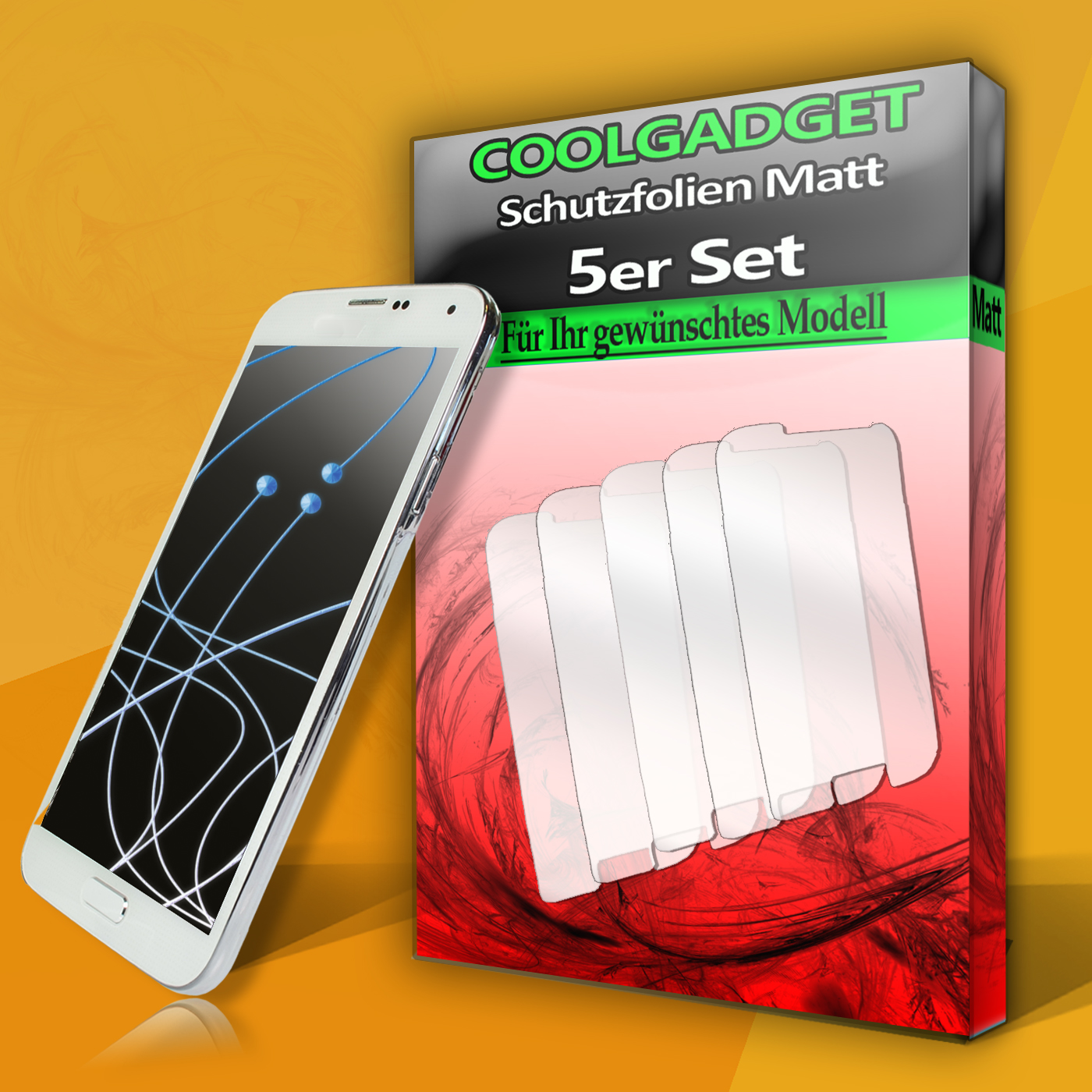 Handy-Tasche-Flip-Case-Schutz-Folie-Huelle-Display-Glasfolie-Panzer-Klebefolie