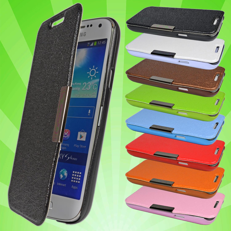 samsung galaxy s4 mini i9195 leder tasche flip case cover. Black Bedroom Furniture Sets. Home Design Ideas