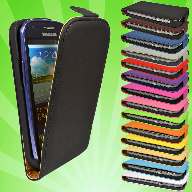 Samsung-Galaxy-S3-Mini-i8190-Leder-Tasche-Flip-Case-Cover-Etui-Schutz-Huelle