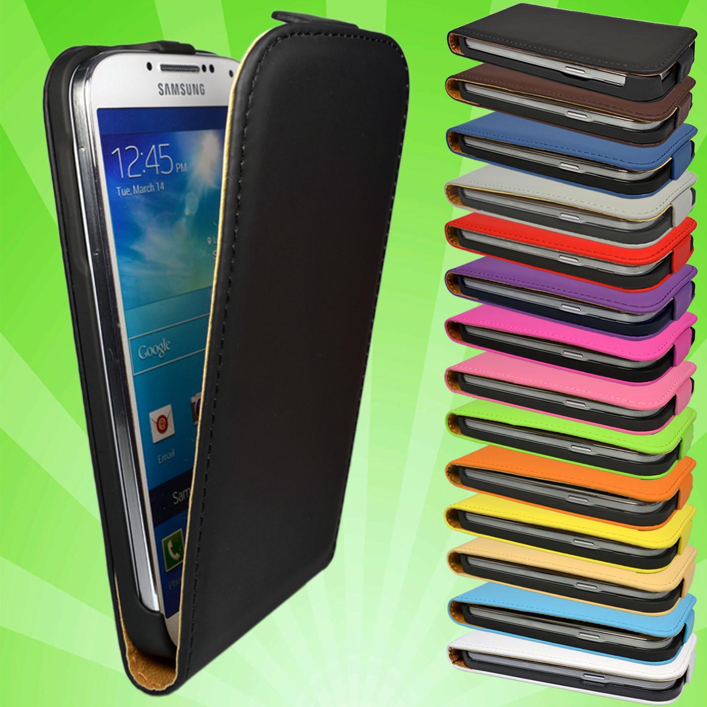 Samsung-Galaxy-S4-i9500-Leder-Tasche-Flip-Case-Cover-Etui-Schutz-Huelle-Folie