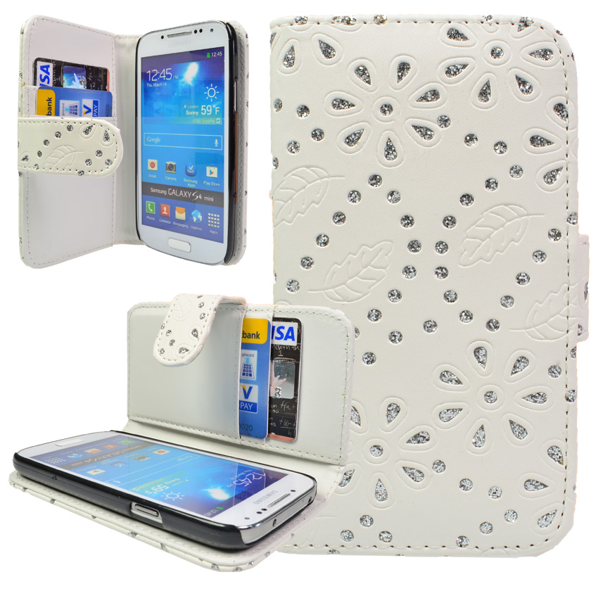 samsung galaxy s4 mini tasche handy flip case glitzer. Black Bedroom Furniture Sets. Home Design Ideas