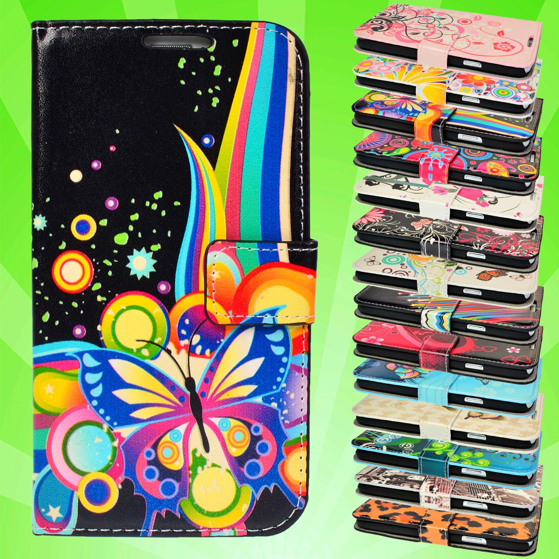 Handy-Tasche-fuer-Samsung-Apple-iPhone-HTC-Sony-Flip-Case-Schutz-Huelle-Motiv-Etui