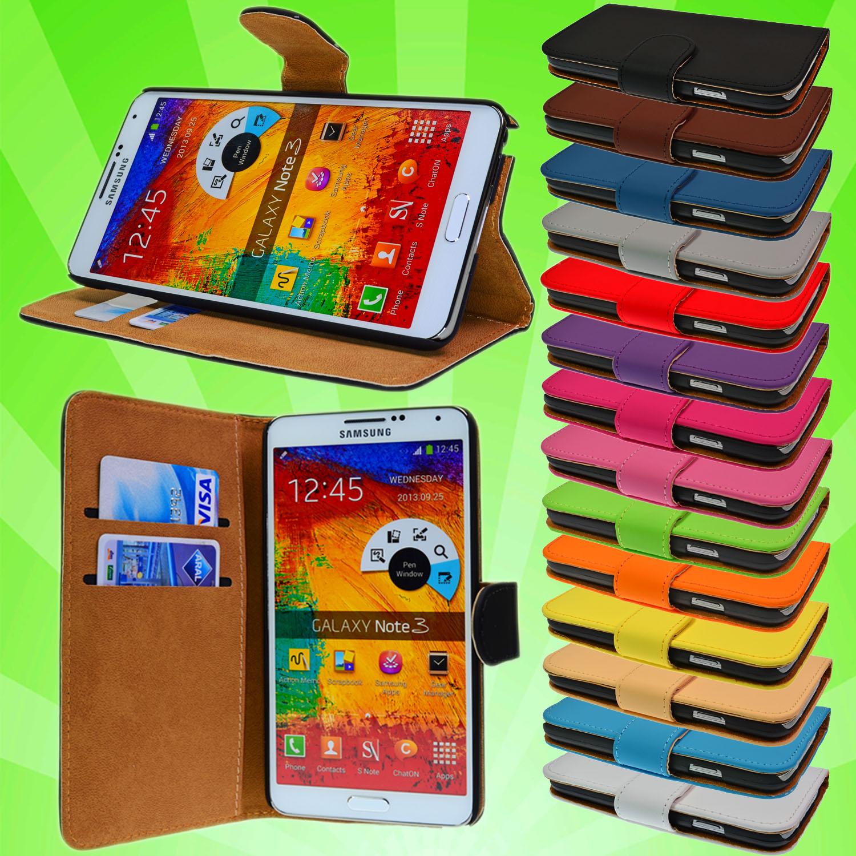 Samsung-Galaxy-Note-3-GT-N9005-Leder-Tasche-Flip-Case-Cover-Etui-Schutz-Huelle