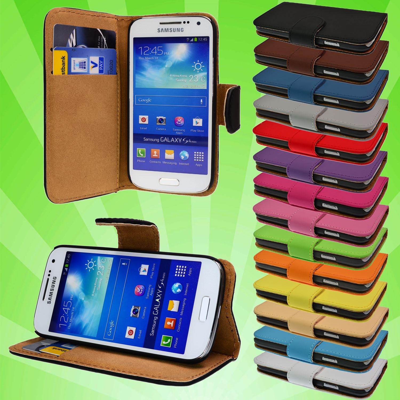 Flip-Tasche-Samsung-Galaxy-S4-Mini-i9190-Leder-Schutz-Huelle-Etui-Case-Cover