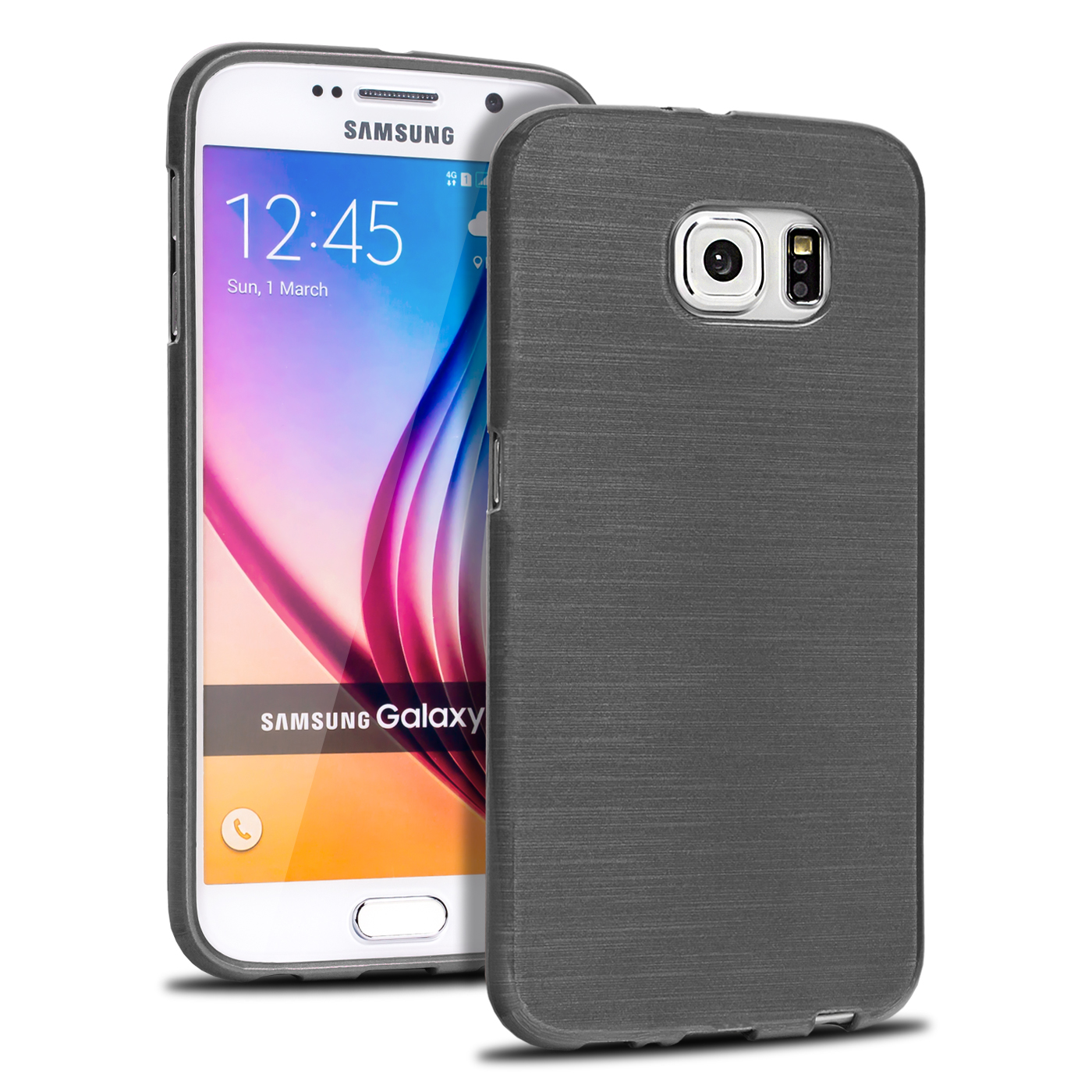 brushed case f r samsung galaxy serie schutz h lle silikon handy tasche tpu d nn ebay. Black Bedroom Furniture Sets. Home Design Ideas