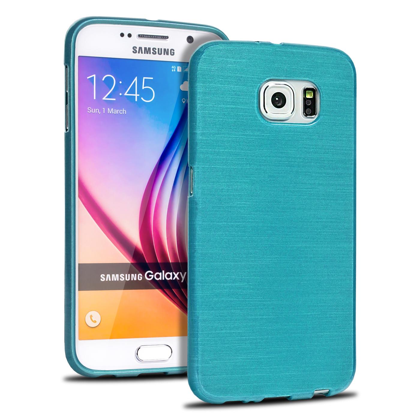 BRUSHED Case für SAMSUNG GALAXY Serie Schutz Hülle Silikon Handy Tasche TPU Dünn