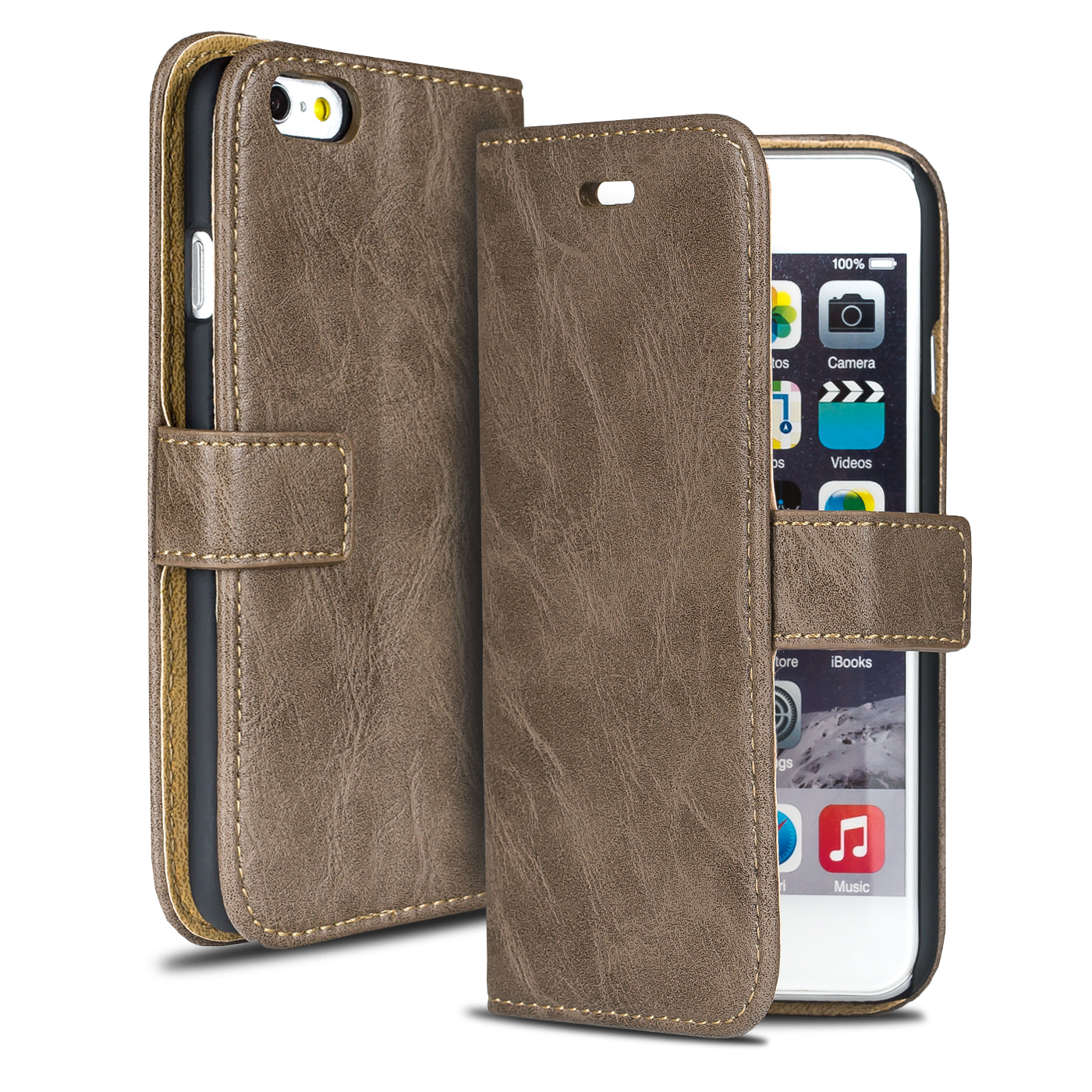 luxus handy tasche f r apple iphone flip cover case schutz h lle wallet etui ebay. Black Bedroom Furniture Sets. Home Design Ideas