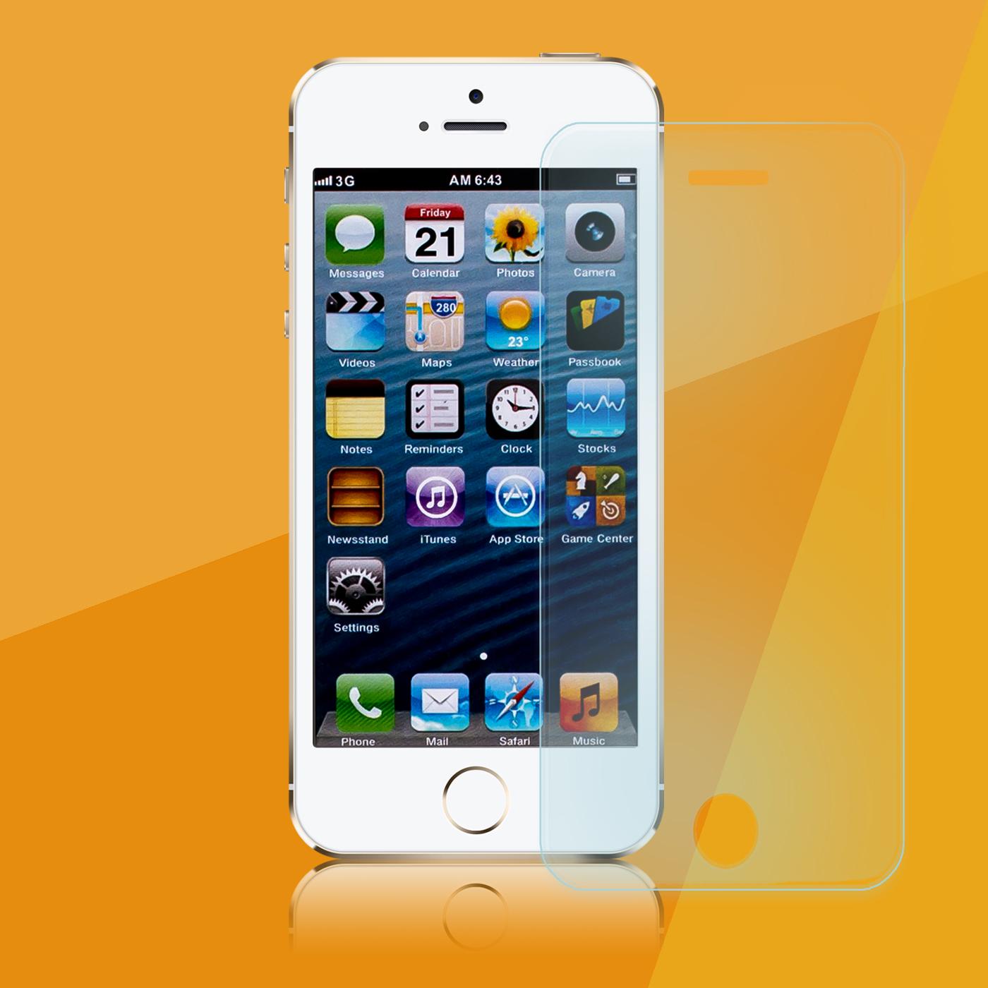 apple iphone se schutzglas glasfolie echt glas panzerglas. Black Bedroom Furniture Sets. Home Design Ideas